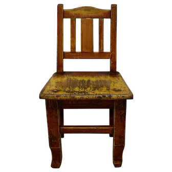 Painted Oak Child's Chair