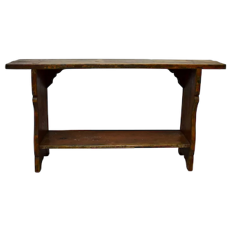 Painted Pine Water Bench