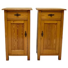 Pair of Pine Nightstands