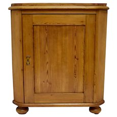 Swedish Pitch Pine One Door Corner Cupboard