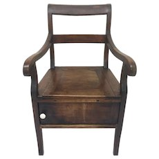 French Walnut Armchair Commode
