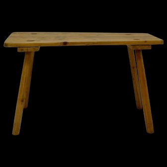 Irish Pine End Table or Bucket Bench