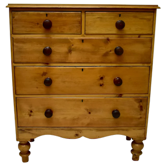 Antique Pine Furniture English Chest Of Drawers