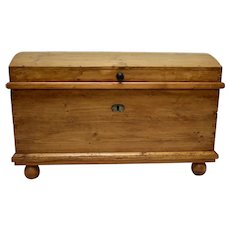 Pine Dome-Top Trunk or Blanket Chest
