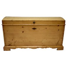 Large Pine Cedar-Lined Dome-Top Trunk or Blanket Chest
