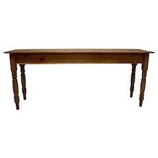 English Pine Turned Leg Side Table