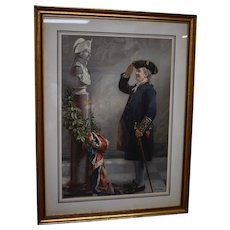 """""""Saluting the Admiral"""" Albert W. Holden Pears' Print, 1905"""