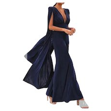 Sexy Backless Jumpsuit with wing flared sleeves