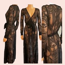 Vtg 70's Vibes Maxi all lace layering Maxi dress