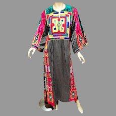 Vtg Ethnic Heavily Embroidered middle Eastern Kimono Robe