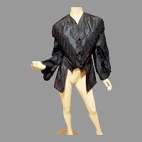 Antique Victorian Gibson Girl R.H. Macy & Co Fringed silk jacket fringed w/Tassels