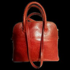 Vtg Ostrich leather Furla Italy Large cross body bag - Red Tag Sale Item