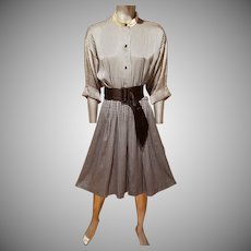 CHRISTIAN DIOR COUTURE Numbered Silk Dress Belonged to Nancy Reagan