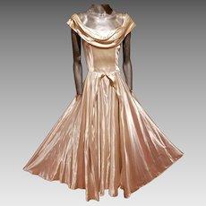 Vtg Liquid Peau de soie Majestic Gown circa 1930's France