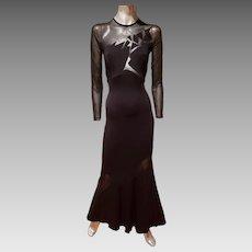 Cache' Illusion Maermaid cutout geometric  design Gown
