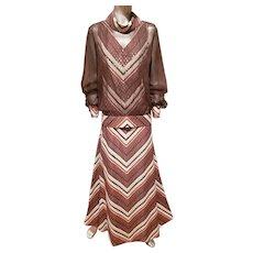 Vtg 1950 Semi Couture custom made Jerri Frenell gold lame'