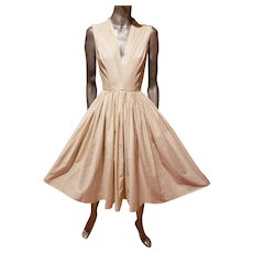 Vtg 1950's Anne Fogarty fit and Flare swing circle dress