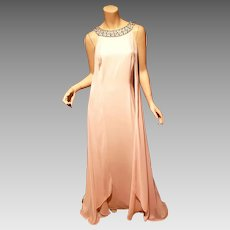 Couture Vince Camuto NWT halter Embellished shift gown with side back Capes