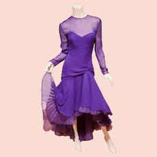Vtg Valentino Amen Wardy  Retro High Fashion Formal Gown