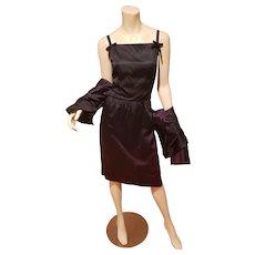 Vtg Jonathan Logan 1950's shantung dress & Jacket Ensemble
