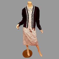 Vtg Jamison Boutique dress and sweater jacket ensemble size 20