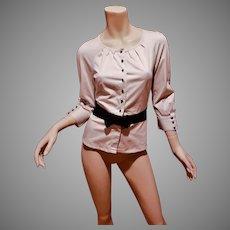 Vtg Christian Dior CD Uniform Jacket Parfum cream/black bow