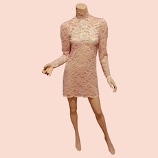 Vtg Ballet Pink lace layering dress Victorian look