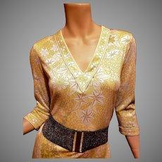 Averardo Bessi cotton printed trapeze dress made in Italy