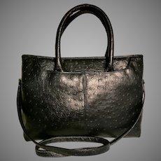Bueno Blue Ostritch embossed satchel/Shoulder Bag Large Crossbody