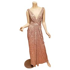 Hollywood Glitz Golden Grecian draped sensual gown