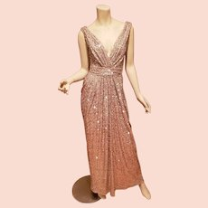Hollywood Glitz Golden Grecian draped sensual gown