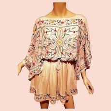 Ethnic Embroidered Boho Tunic/dress Angel sleeves