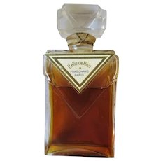 Vtg Belle de Nuit  Parfum Fragonard  Paris 1/2fl oz sealed Pink Tafetta Case