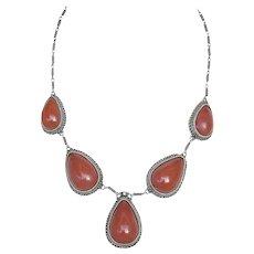 Vtg Judaica Yemenite old Filigree gilt silver necklace with Bakelite Palestine Israel