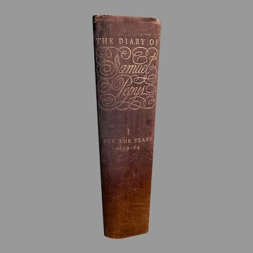 The Diary of Samuel Pepys Volume 1  for the years 1659-1664 Hardcover