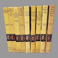 Vtg Nancy Drew Mystery Story 9- Hardcover books  From-1937-1968