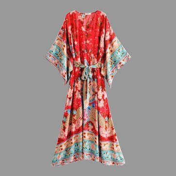 Vtg Bohemian Festival Maxi Boho Chic dress