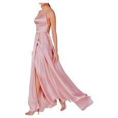 Lavender/Pink Ballet Satin Strappy Formal formal evening dress fluid