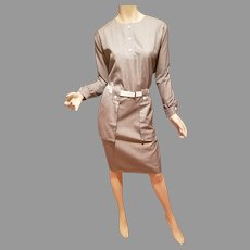 Pierre Cardin Paris Iconic 60's Dress GoGo with white belt