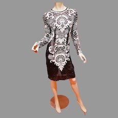 Vtg Flapper Layering Fully beaded dress circa 1960-70