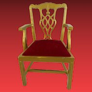 Vintage 1980 Doll Chair or Display