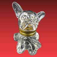 "Antique Czech Crystal ""DOG"" Inkwell ""BIG Floppy Bow & BIG EYES"""