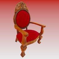 Vintage 1980 Doll Chair Display