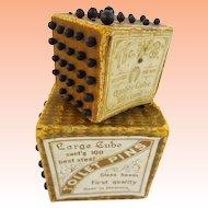 """Antique German """"Toilet Pins"""" Cubes. Two Cubes"""