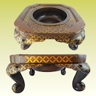 "#2 Grand Japanese Lacquered Hibachi ""MAGNIFICENT"""