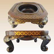 """#2 Grand Japanese Lacquered Hibachi """"MAGNIFICENT"""""""