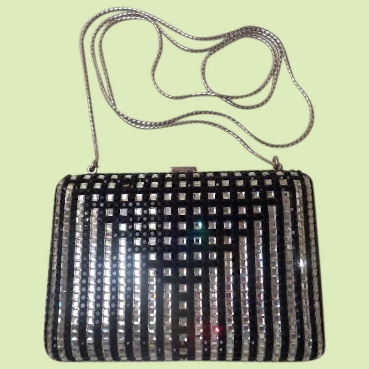 39d91069676f LAYAWAY Judith Leiber Minaudiere Jeweled Black   Rhinestone Purse. ~  Wonderful Little Clutch or White