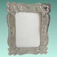 Miniature Tin  Picture Frame ~ A Table Top Easel Back Picture Frame