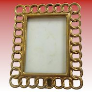 Miniature Brass Picture Frame ~ A Table Top Easel Back Picture Frame