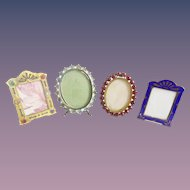 5 Antique Miniature Picture Frames ~ A Charming Group of Table Top Easel Back Frames  ~  ALL Ready for Your Special Little Picture
